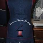 The results of taking a pair of jeans and making them into a simple, yet classy apron. ~ Laura of Davina Dawn Sewing www.davinadawnsewing.com