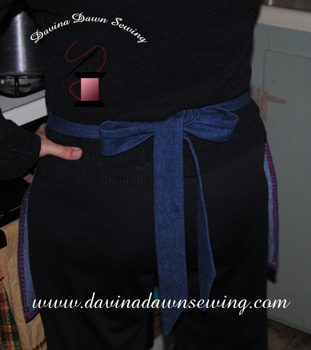 Plenty of length allows for a nice bow tied in the back.. ~ Laura of Davina Dawn Sewing www.davinadawnsewing.com