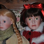 Doll Makeover - From dusty & dirty with matted hair and shoes needing a cobbler.  These girls are now ready to go home to be the special Christmas present for two very special young girls. For Sue - TLC work done by Laura of Davina Dawn Sewing Specialties Blog:  www.SeamsToMe.DavinaDawnSewing.com Web-site: www.davinadawnsewing.com