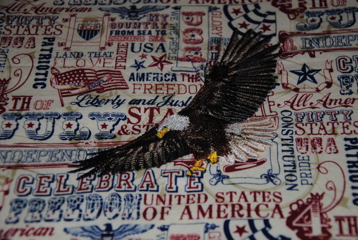 My mother was very patriotic and loved America.  The eagle represents freedom and strength.  My mother'n law was a woman of great strength.
