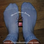 Even the socks are more enjoyable to wear after the refreshed look after the dyeing process. Davina Dawn Sewing Specialties http://www.davinadawnsewing.com