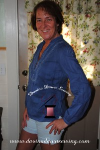 Sportin' the refreshed look after the dyeing process. Davina Dawn Sewing Specialties http://www.davinadawnsewing.com