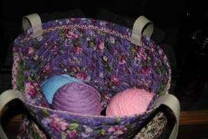 Making a beautiful tote for my crochet work-in-process projects! So pretty and so inspiring. Laura of Davina Dawn Sewing Specialties www.davinadawnsewing.com