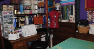 The embroidery and bolt corner.